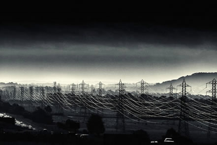 photo of a multitude of powerlines